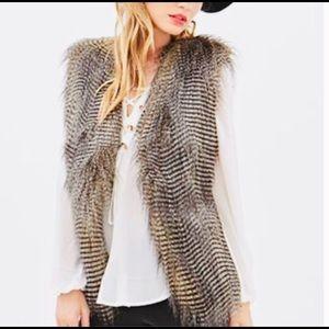 Forever 21 Faux Fur Open Front Vest